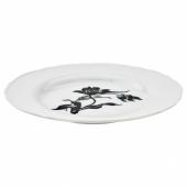 УППЛАГА Тарелка десертная, белый, с рисунком, 22 см