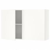 КНОКСХУЛЬТ Навесной шкаф с дверями, белый, 120x75 см