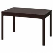 ЭКЕДАЛЕН Раздвижной стол, темно-коричневый, 120/180x80 см