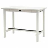 НОРДВИКЕН Барный стол, белый, 140x80 см