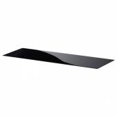 БЕСТО Верхняя панель, стекло черный, 120x40 см