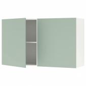 КНОКСХУЛЬТ Навесной шкаф с дверями, серо-зеленый, 120x75 см
