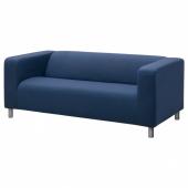 КЛИППАН Чехол на 2-местный диван, Висле синий