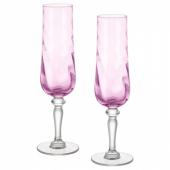 КОНУНГСЛИГ Бокал для шампанского, розовый, 26 сл