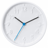 СТОММА Настенные часы, белый, 20 см