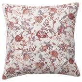 СПРЭНГОРТ Подушка, белый, розовый, 50x50 см