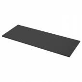 ЭКБАККЕН Столешница, матовая поверхность антрацит, ламинат, 186x2.8 см