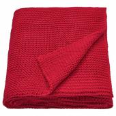 ИГАБРИТТА Плед, красный, 130x170 см