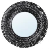 РИСБЮГД Зеркало, бамбук, черный, 50 см