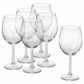СВАЛЬК Бокал для вина, прозрачное стекло, 44 сл