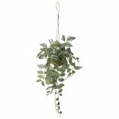 ИНВЭНДИГ Растение искусственное, подвесной Традесканция Традесканция, 70 см