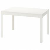 ЭКЕДАЛЕН Раздвижной стол, белый, 120/180x80 см