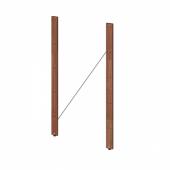 ТУРД Стойка для садового стеллажа, коричневая морилка, 90 см 2 шт