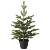 ВИНТЕР 2020 Искусственное растение в горшке, д/дома/улицы, рождественская елка зеленый, 12 см