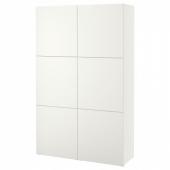 БЕСТО Комбинация для хранения с дверцами, Лаппвикен белый, 120x40x192 см