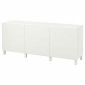 БЕСТО Комбинация для хранения с дверцами, белый, Лаксвикен белый, 180x40x74 см