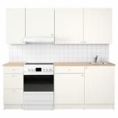 КНОКСХУЛЬТ Кухня, белый, 220x61x220 см