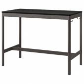 ИДОСЕН Стол, черный, темно-серый, 140x70x105 см