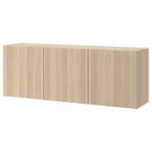 БЕСТО Комбинация настенных шкафов, под беленый дуб, Лаппвикен под беленый дуб, 180x42x64 см