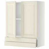 МЕТОД / МАКСИМЕРА Навесной шкаф/2дверцы/2ящика, белый, Будбин белый с оттенком, 80x100 см