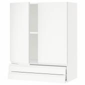 МЕТОД / МАКСИМЕРА Навесной шкаф/2дверцы/2ящика, белый, Воксторп матовый белый белый, 80x100 см