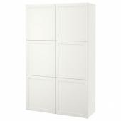 БЕСТО Комбинация для хранения с дверцами, Ханвикен белый, 120x40x192 см
